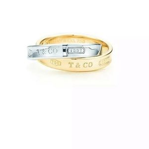 Tiffany & Co. 1837 Interlocking Ring Size 7